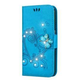 Bling Rhinestone Diamond PU Phone Case for Samsung Galaxy A8 Plus 2018 Case