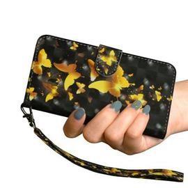 3D Color Painting Phone Case for LG K50 / Q60 Case Leather Flip Wallet Cover