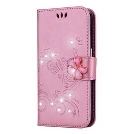 Bling Rhinestone Diamond PU Wallet Phone Case for Samsung Galaxy S9 Case