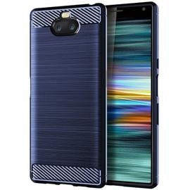 leeHUR Carbon Fiber TPU Phone Case for Sony Xperia 10